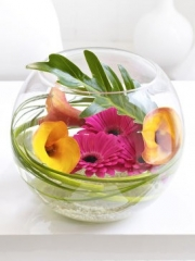 Calla Lily and Gerbera Bowl
