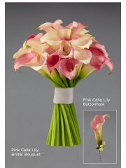 Pink Calla Lilly Buttonhole